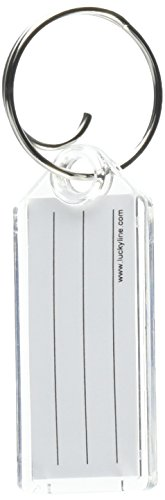 Lucky Line Key Tag with Tang Ring, Clear, Box of 100 (1230010)