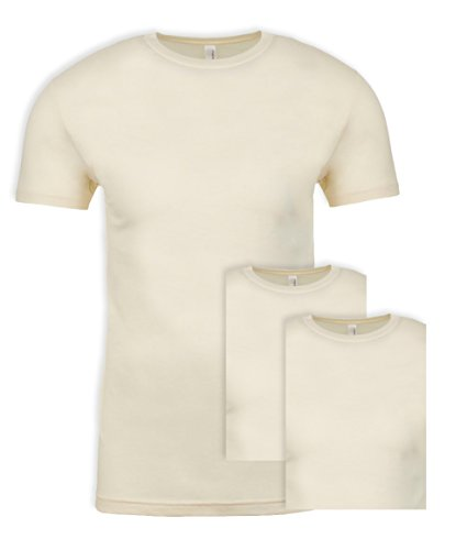 - Next Level NL3600 100% Cotton Premium Fitted Short Sleeve Crew Natural XXX-Large (3 Pack)