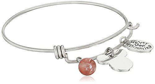 #Review Disney Stainless Steel Catch Bangle with Silver Plated Mickey Mouse Head,