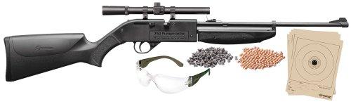 Crosman 760B Pump Master Variable Pump BB Repeater/Single Shot Pellet Rifle with Starter Kit (.177)