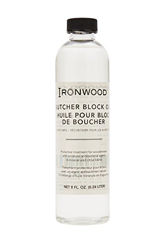 Oil Gourmet Bottle (Ironwood Gourmet 28122 Butcher Block Oil, Protective Treatment for Wood, 8-Ounce Bottle)