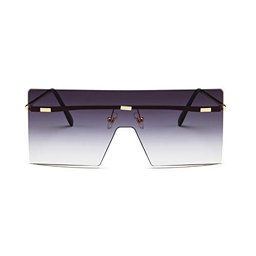 XIAOHUIHUI Glasses, Sunglasses, Personality Glasses, Fashion Glasses, Metal Glasses, Retro Glasses, Glasses Case,Gray ()