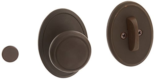 Schlage Lock Company F94AND613WKF Oil Rubbed Bronze Interior Pack Andover Knob Dummy Interior Pack with Deadbolt Cover Plate and Decorative Wakefield Rose