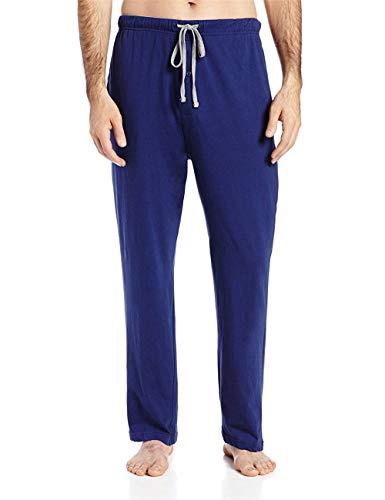 Cloudless Men's Solid Knit Sleep Pant (Blue-X-Large)
