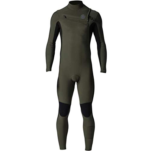 Rip Curl Classic Wetsuit - Rip Curl Aggrolite Chest Zip 3/2 Wetsuit, Khaki, Medium/Tall