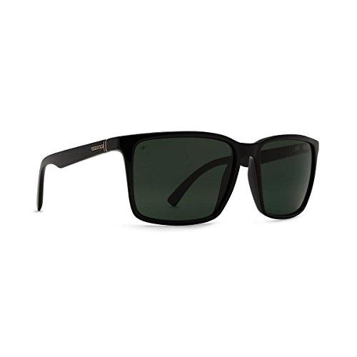 VonZipper Lesmore Polarized Wayfarer Sunglasses,Black Smoke Satin,57.2 - Zipper Wayfarer Von