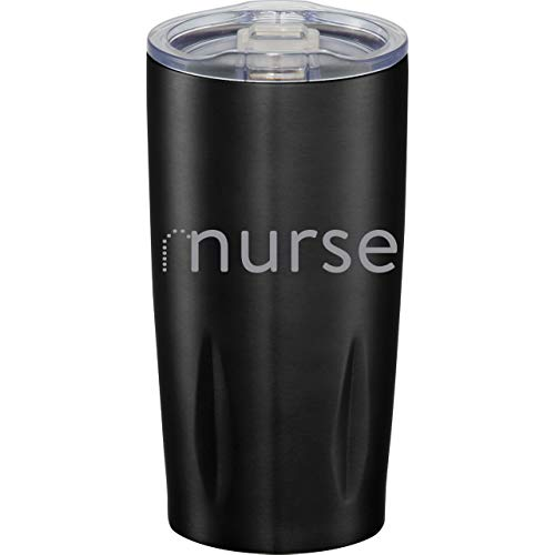 Male Nurse Gift! Funny Nursing Travel Tumbler for Him. 20oz Stainless Steel MURSE Travel Tumbler. Heavy Duty, Double Walled, No Sweat Design (just like your favorite MURSE). (Black)