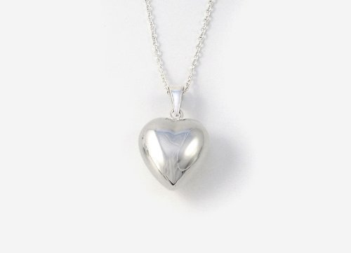 Silver Plated - Chiming Heart Necklace - Tales From The Earth - Presented In Pale Blue Gift Box by Tales From The (Chiming Heart)