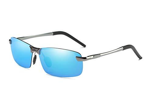 Lcbestbro Men's Polarized Sunglasses for Driving Fishing Golf Metal Glasses UV400