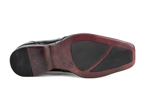 Bonafini Hombres A-190 Correa Con Cinturón Casual Vestido Mocasines Zapatos Negro