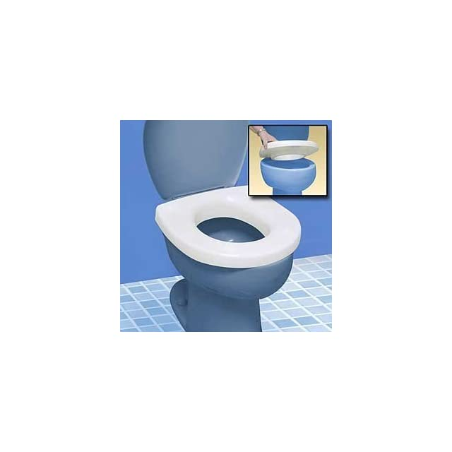 SOUND ACTIVATED LIGHT UP TOILET SEAT   RAISED SEAT MAKES SITTING DOWN AND STANDING UP EASIER