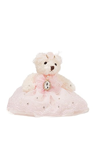Sweetheart Headpiece (Bride Teddy Bear in Pink Dress Wedding Stuffed Animal Soft Sitting Plush Toys 6