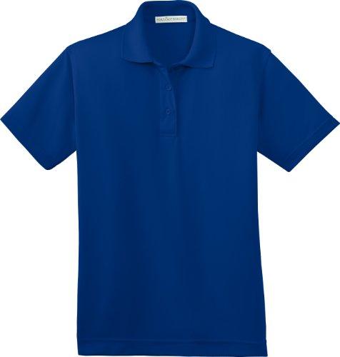 Port Authority Ladies Bamboo Pique Sport Shirt, XXL, Royal