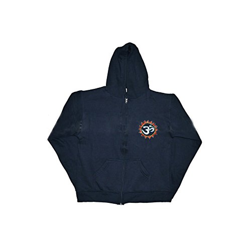 Hoodie Jacket: Om Sign -- Embroided, Large Size