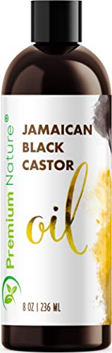 Jamaican Black Castor Oil Hair Growth- Hair Oil Edge Control Hair Growth Products Beard Growth Oil Natural Hair Products Cold Pressed Castor Oil Organic Pure Black Jamaican Castor Oil 8 oz (Extra Black Castor Oil)