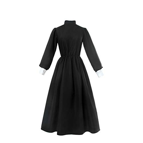 Women Victorian Maid Costume Traditional Pilgrim Colonial Dress Halloween Cosplay ()