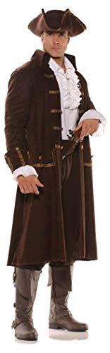 Captain Kenway Costumes - Pizazz! Men's Captain Cutthroat Deluxe Costume,