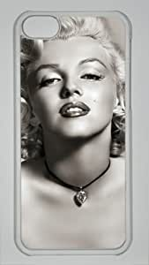 Marilyn Monroe Custom PC Transparent Case for iPhone 5C