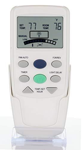 - Anderic Replacement FAN-9T with Reverse Key Thermostatic Remote Control for Hampton Bay Ceiling Fans - FAN9T (FCC ID: L3HFAN9T, PN: FAN9TR, Works Receiver FAN10R, FAN-10R)