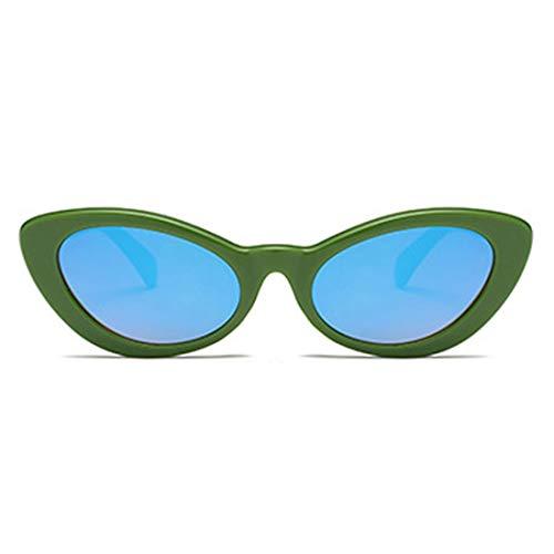 Simples Femme De Bleu Et Rétro Homme Mode Lunettes Aiweijia Vert Soleil Ovales q6xF8U4