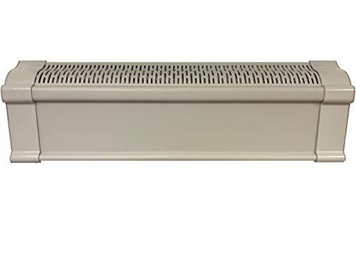 Baseboard Heat Covers, Better Baseboard Heater Covers WITH Left & Right END CAPS - Direct REPLACEMENT Set | FEATHER GRAY (4 Feet)