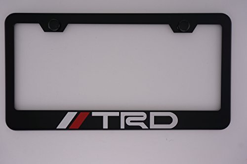 TRD Black License Plate Frame with Caps