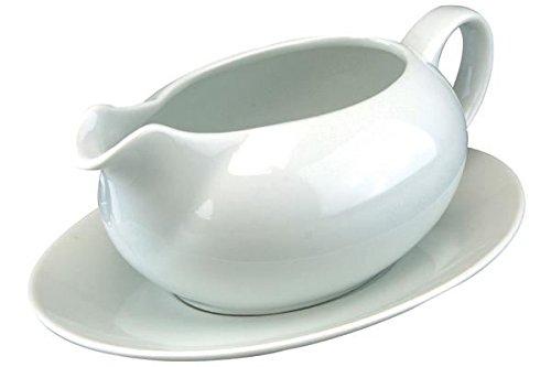 Gravy Boat 550ml With Saucer Party Dish Dinner Tableware Sauce Jug Serving Roast Kitchen Wedding Restaurant Catering Concept4u