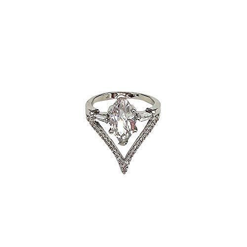 (New Design White Diamond Jewelry Anniversary Gift Wedding Band Engagement Rings Valentine's Day Gifts for Girlfriend Boyfriend (US Size))
