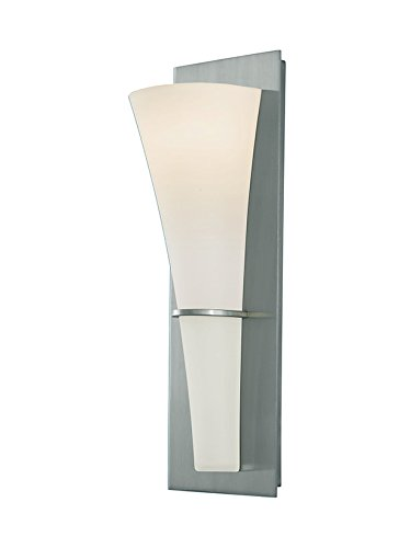 Murray Feiss WB1341BS Barrington 1 Light Sconce, Brushed Steel