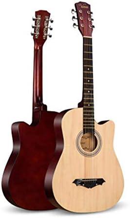 アコースティックギター ミュージカル初心者男性と女性初級学生アダルト練習木製ギター初心者 初心者セット (色 : Natural, Size : 41 inches)