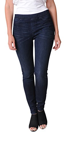 Eileen Fisher Organic Cotton Soft Stretch Denim Jegging (L, Utility Blue) from Eileen Fisher