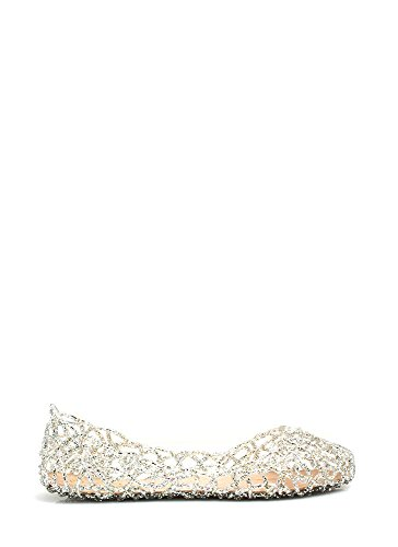 Glasur Damen Jelly Ballet Flat Silber