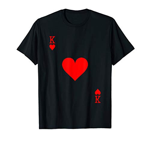 King of Hearts Playing Card Halloween Costume - T-shirt Hearts King