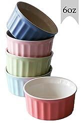 Cestash 6 Ounce Porcelain Souffle Cups -...
