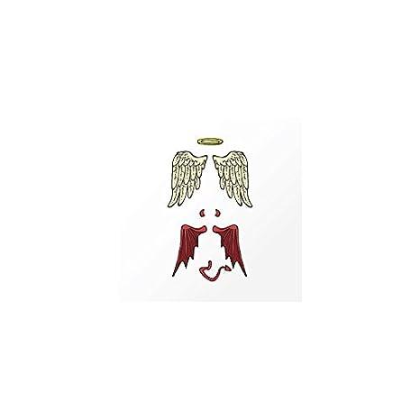 Tatuaje efímero niño, diseño de ángel y demonio alas: Amazon.es ...