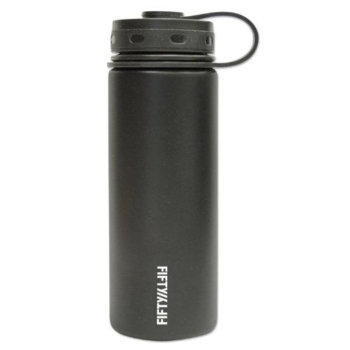 FIFTY/FIFTY ( V18001BK0) Vacuum-Insulated Bottle, Black - 18 oz Capacity