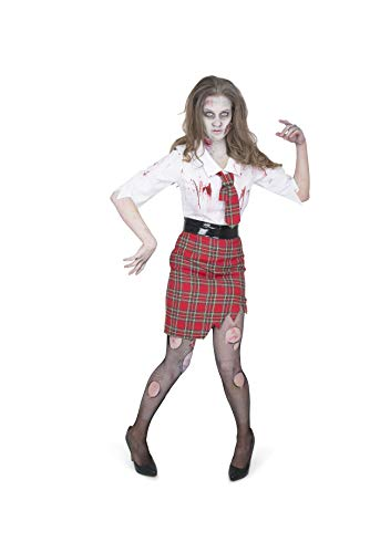 Women's Zombie School Girl Costume, for Halloween Party Accessory, Large for $<!--$24.99-->
