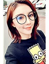 Generic Korean_style_of new_big_box_round_frame_ glasses_ retro lovely_flat_light_mirror_minimalist versatile_ ()
