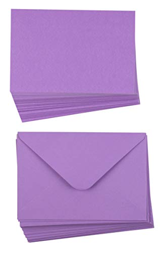 ng Cards - Plain Cards and Matching Color Envelopes for DIY Holiday Cards, Thank You Cards, Party Invitation, Birthday, Wedding, Lavender Purple, 4 x 6 Inches ()