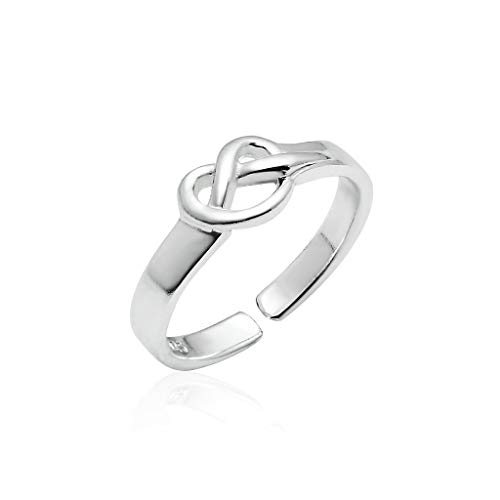 Sexy Gold Toe Ring - Big Apple Hoops - Genuine 925 Sterling Silver ''Basic and Simple'' Open Knuckle/Toe Ring for Women | All Day Comfort with 14 Unique Styles