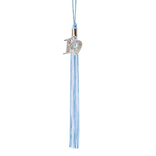 Class Act Graduation Light Blue and White Graduation Tassel Year 2019 with Bling -