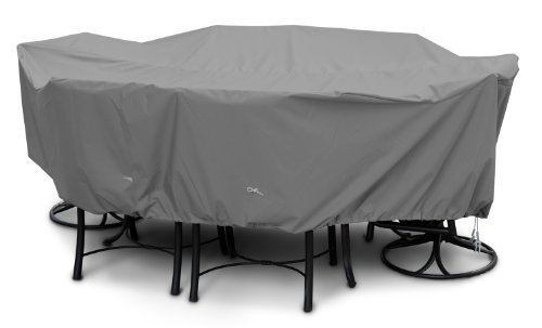 KoverRoos Weathermax 81462 Supersize High Back Dining Set Cover, 140 by 80 by 36-Inch, Charcoal from KOVERROOS