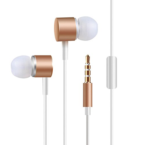 AutumnFall In Ear Headphones with Mic Wired Earbuds Earphones Functional Wired Headphones Music