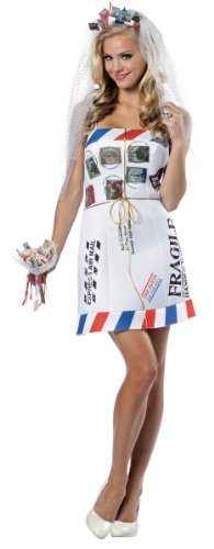 [Rasta Imposta Mail Order Bride, White, Fits Sizes 4-10] (Mail Order Bride Adult Costumes)