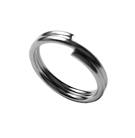 Riptail Stainless Steel Split Rings (Size 4mm (10lb) - 10 Pack) (Stainless Steel Snap Ring)