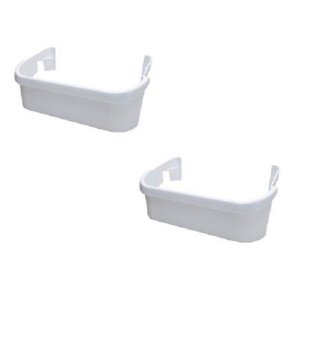 2 Door Part (NEW 240351601 - 2 Pack White Door Shelf Bin for Frigidaire Electrolux Freezer Refrigerator AP2115974 PS430027, 891154, AH430027, EA430027 by ICETECH - 1 YEAR WARRANTY)
