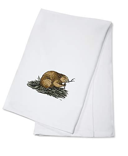 Beaver - Icon (100% Cotton Kitchen Towel)