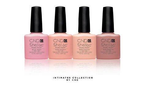 CND SHELLAC UV Gel Polish Nudes *The Intimates Collection* Fall 2013 - 4pcs