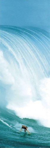 (Surfing Huge Wave Ocean Giant Sports Door Poster 21 x 62 inches)