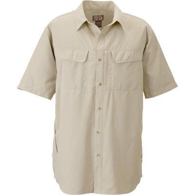 Gravel Gear UPF 30 Quick-Dry Polyester Ripstop Shirt - Short Sleeve, Sandstone, Large;l by Gravel Gear (Image #2)